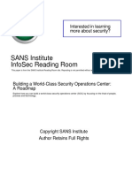Building World Class Security Operations Center Roadmap