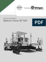 7123 Technical Specification Wirtgen SP 500 Slipform Paver(1)