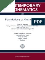 [Contemporary Mathematics 690] Andres Eduardo Caicedo, James Cummings, Peter Koellner, Paul B. Larson - Foundations of Mathematics_ Logic at Harvard Essays in Honor of W. Hugh Woodin's 60th Birthday March 27-29, 2015 Harvard Unive