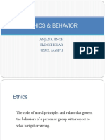 Ethics & Behaviour