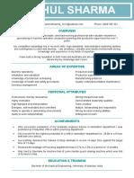 Resume Mechanical Engr