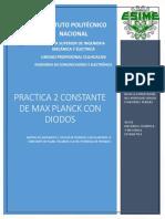 Práctica 2 constante de Max Plank con diodos