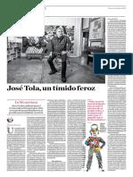 José Tola, Un Tímido Feroz