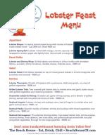 LobsterFeastMenu Web