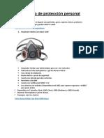 Equipo de Protección Personal - Fichas Tecnicas
