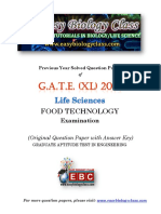 GATE XL 2019 Food Technology Solved Question Paper