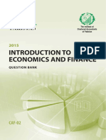 CAF2 Intorduction to Economics and Finance Questionbank ICAP