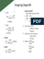 Perhitungan Ag2O Dengan KOH