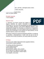CEREMONIA DE CONFIRMACION
