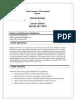 Course Outline Derivatives (Term-IV) 2017-19 SK