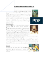 Biografia de Grandes Matemáticos