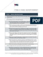 Deconstructing a Video Ad