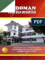 Pedoman Tesis & Disertasi Pasca FKIP UNS Edisi 2019-2