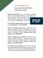 CPM Insumos Vuelo Presidencial 27 Octubre 2017, 06sep19