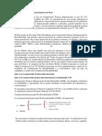 Cooperacion Internacional en El Perù