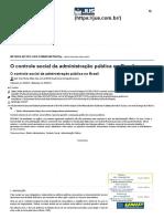 O Controle Social Da Administração Pública No Brasil - Jus.com.Br _ Jus Navigandi