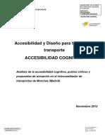 Accesibilidad para todos en el trasporte ACCESIBILIDAD COGNITIVA