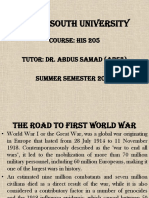 Road to First World War