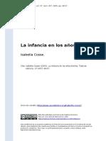 Isabella Cosse (2005). La Infancia en Los Anos Treinta