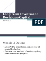 Module 2-Long Term Investment Decisions as on 3rd April 2019