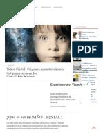 Niños Cristal. Orígenes, Características y Test Para Reconocerlos - Formarse. Un Sitio Para Crecer