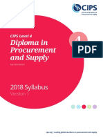 Cips Level 4 Diploma in Procurement and Supply