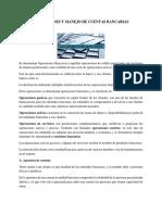 Operaciones y Manejo de Cuentas Bancarias