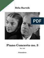 Bartok IIIrd piano concerto