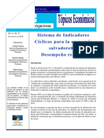 Sistema de Indicadores Cíclicos para la economía  salvadoreña