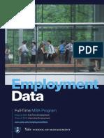 Yale SOM Employment Data 2015-2016