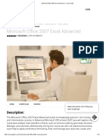 Microsoft Office 2007 Excel Advanced - Course Gate