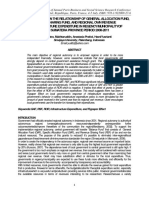 FLYPAPER EFFECT ON THE RELATIONSHIP OF GENERAL ALLOCATION FUND,  REVENUE SHARING FUND, AND REGIONAL OWN REVENUE TO INFRASTRUCTURE EXPENDITURE IN REGENCY/MUNICIPALITY OF SOUTH SUMATERA PROVINCE PERIOD 2008-2011