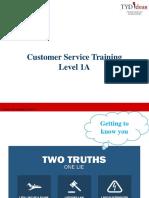 Customer Service Level 1 A