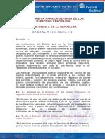 16. Ley Organica de Defensa de Derechos Laborales