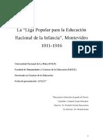 """La """"Liga Popular para la educación racional de la Infancia"""""""