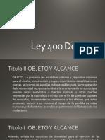 Ley 400 De 1997