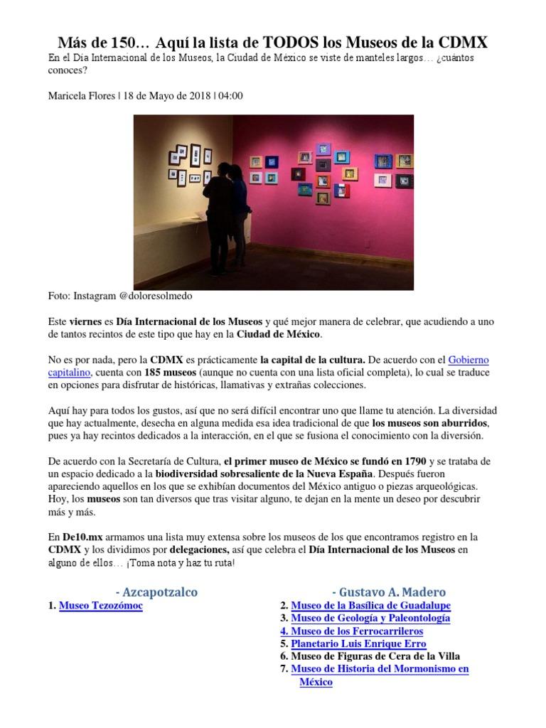 Museos Chilangos Cdmx Ciudad De México Museo