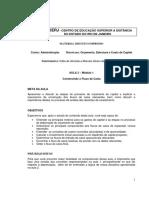 Aula 03 - Orçamento estrutura e custo capital