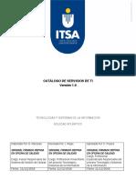 Catalogo de servicios ITSA