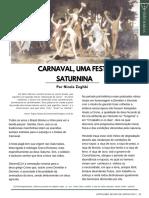 Carnaval Uma festa Saturnina