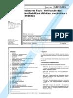 Resistores fixos - Verificação das características elétricas, mecânicas e climáticas