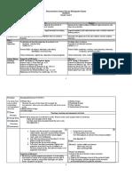 Demonstration Lesson Plan for Multigrade Classes