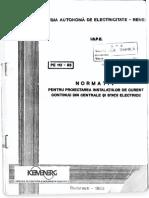 PE112-93 - Proiectarea instalatiilor de curent continuu