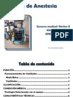 Máquna de Anestésia_ Manual de Operación Del Equipo.