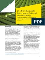 EY 2018 UK Corporate Governance Code and New Legislation
