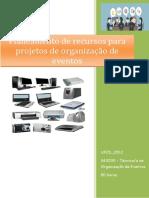 UFCD_0512_Planeamento de Recursos Para Projetos de Organização de Eventos _índice