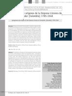 Antecedentes y Origenes de La Empresa Licorera de Santander
