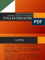 ETICA en Educacion