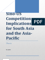 Sino US competition in south asia and asia pacific