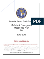 Roanoke County Public Schools Safety & Emergency Response Plan